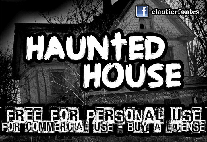 CF Haunted House font by CloutierFontes