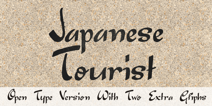 Image for Japanese Tourist font