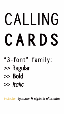 Image for Calling Cards font