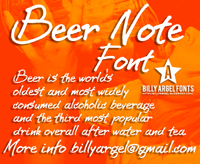 BEER NOTE  font by Billy Argel