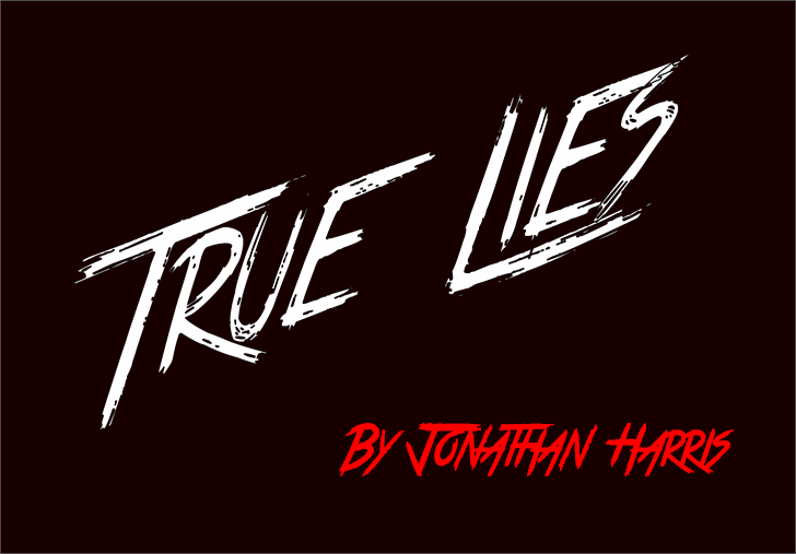 True Lies font by Jonathan S. Harris