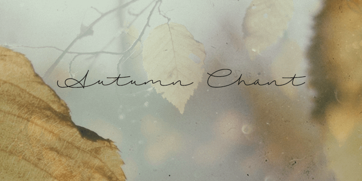 Image for Autumn Chant font