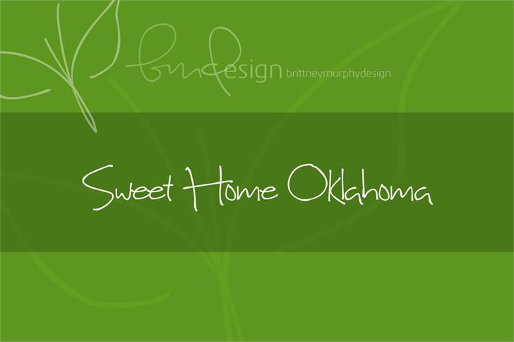 Image for Sweet Home Oklahoma font