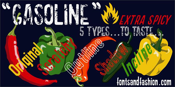 Image for GASOLINE scratchy font