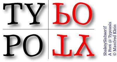 Image for ShakeySlabserif font