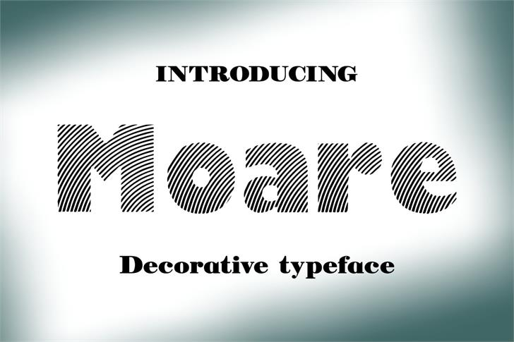 Image for Moare font