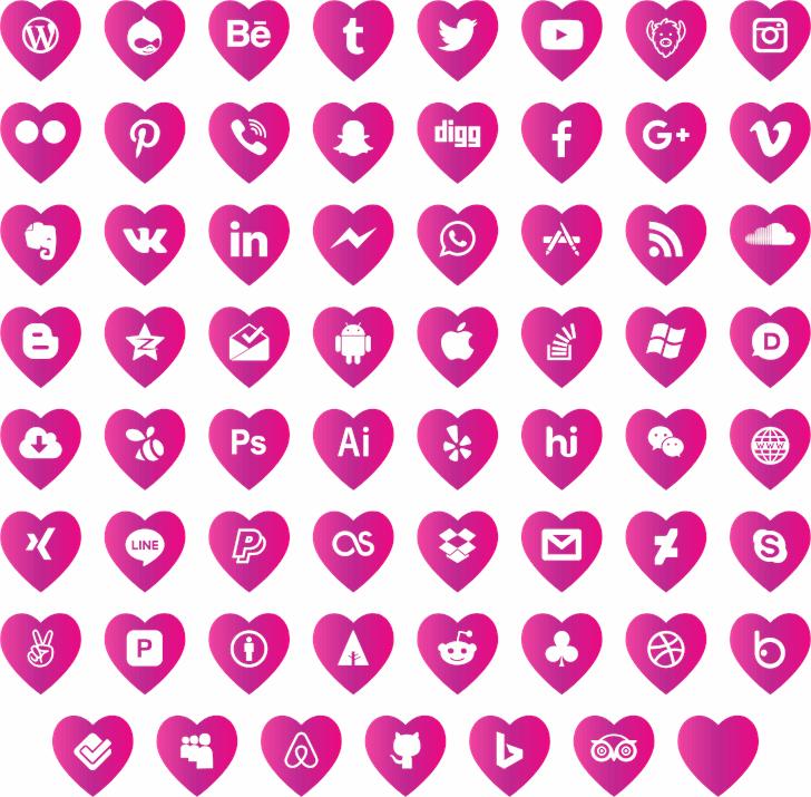 love social media font by elharrak