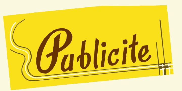 Image for Publicite font