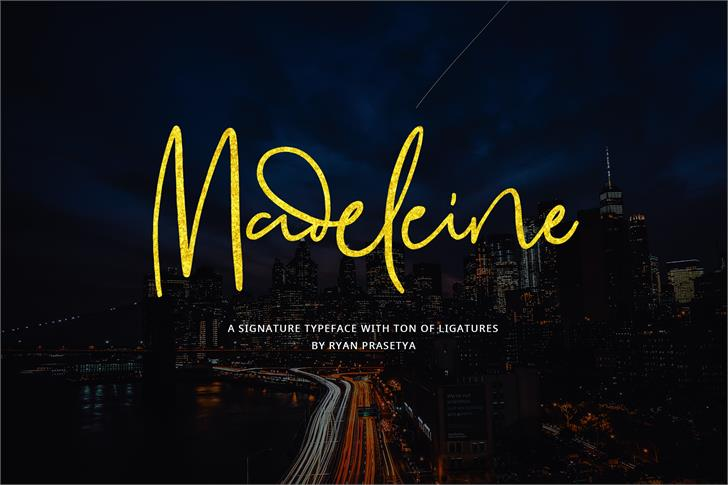 Madeleine Demo font by Lostvoltype Foundry