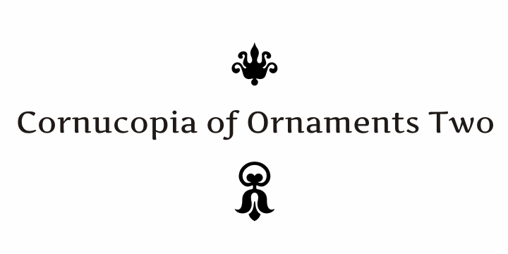 Image for Cornucopia of Ornaments Two font