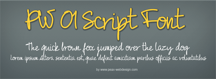 Image for PW01Script font