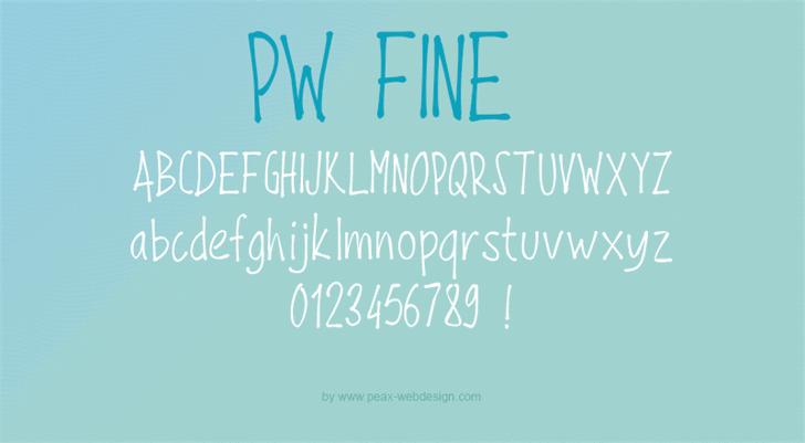 Image for PWFine font