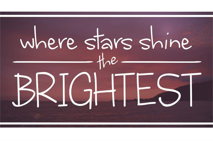Image for where stars shine the brightest font