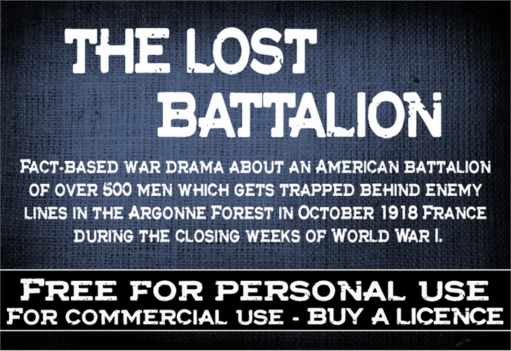 Image for CF The lost battalion font