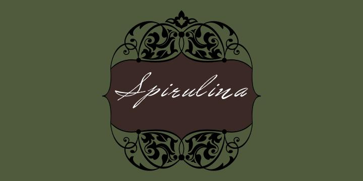 Image for Spirulina font