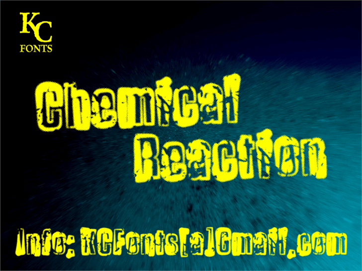 Chemical Reaction font by KC Fonts