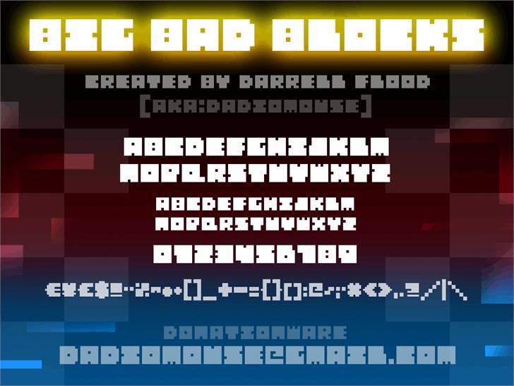 Image for Big Bad Blocks font
