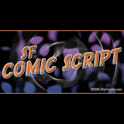 Image for SF Comic Script font