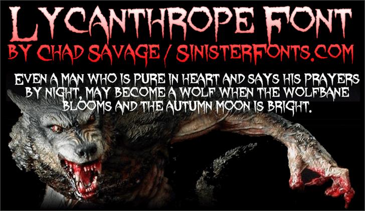 Image for Lycanthrope font
