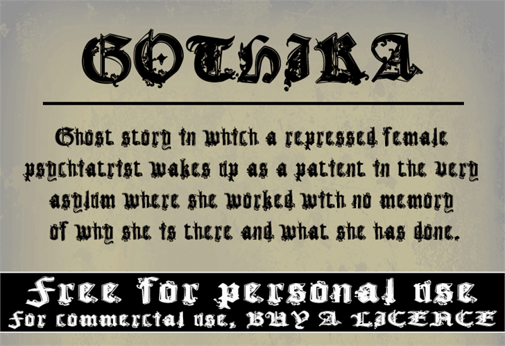 CF Gothika font by CloutierFontes