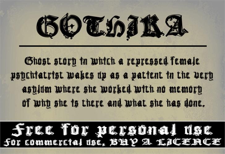 Image for CF Gothika font