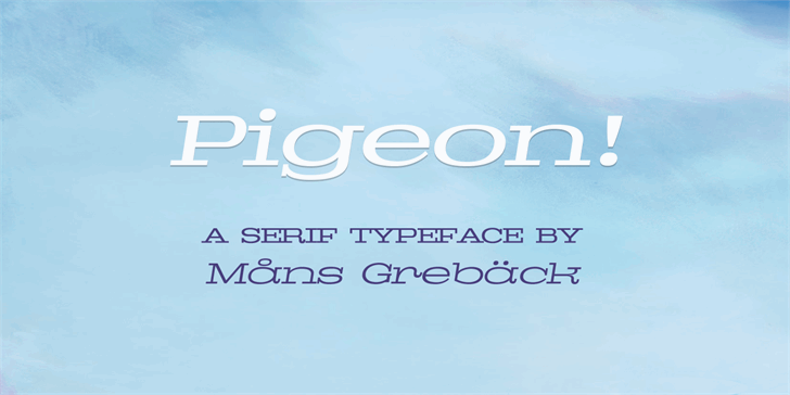 Image for Pigeon PERSONAL font