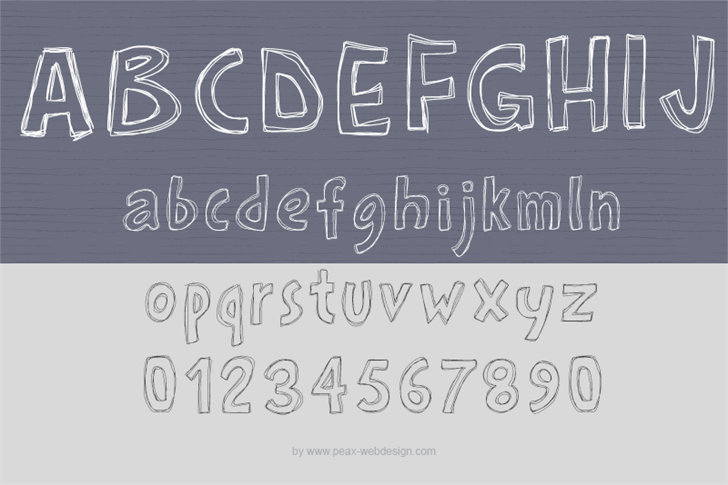 PWRoughs font by Peax Webdesign