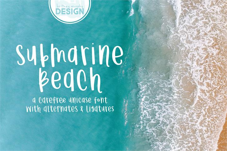 Submarine Beach font by Brittney Murphy Design