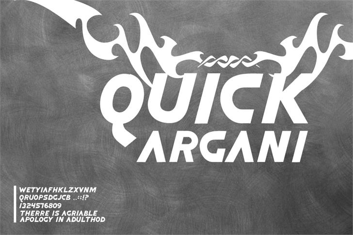 Image for Quick Argani font