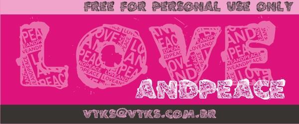 Image for VTKS LOVEANDPEACE font