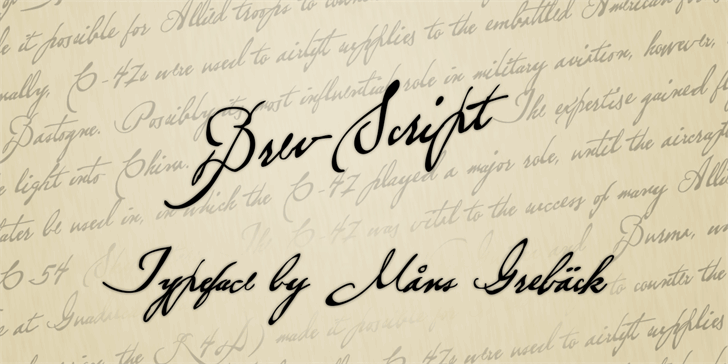 Image for Brev Script Personal Use font