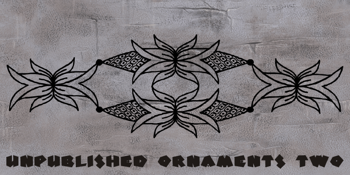 Image for Unpublished Ornaments Two font