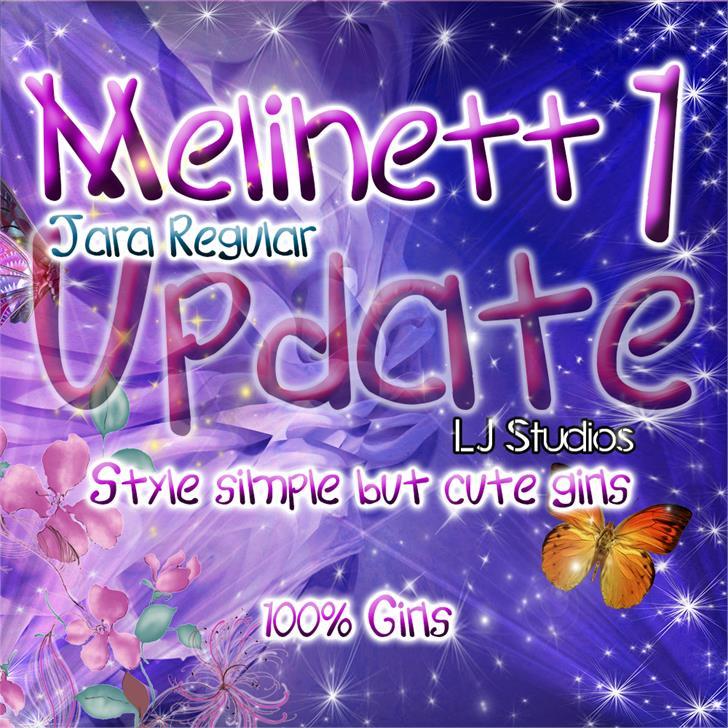Melinett 1 font by LJ Design Studios