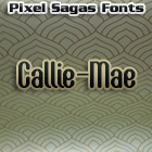 Callie-Mae font by Pixel Sagas