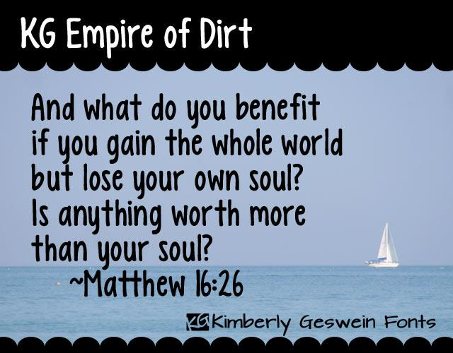 Image for KG Empire of Dirt font