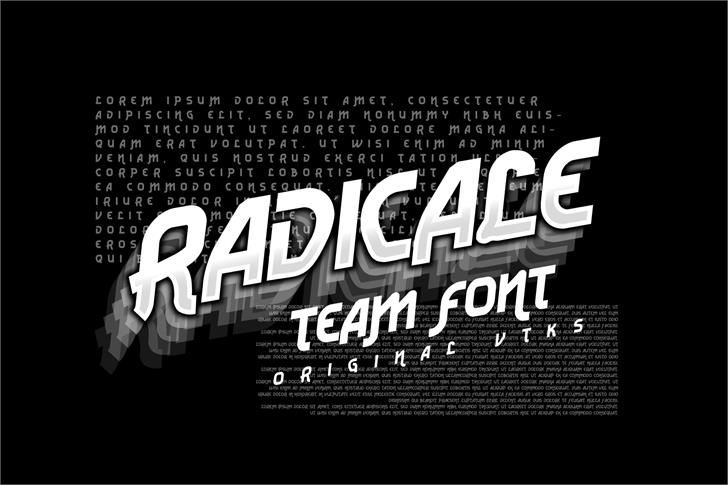 Vtks Radicale v2 font by VTKS DESIGN