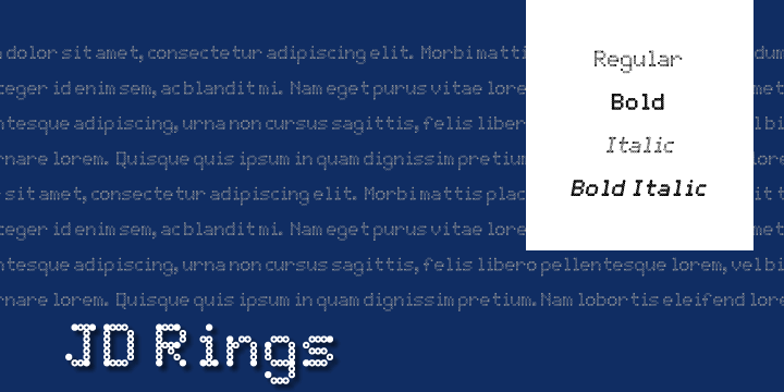 Image for JD Rings font