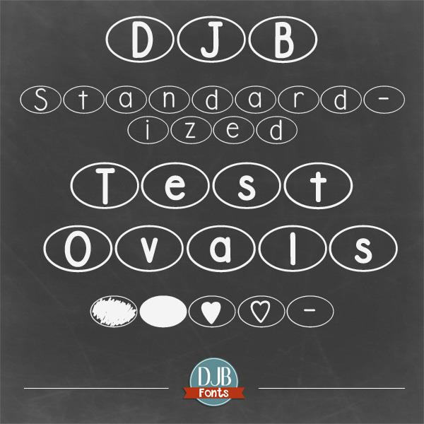 Image for DJB Standardized Test Oval font