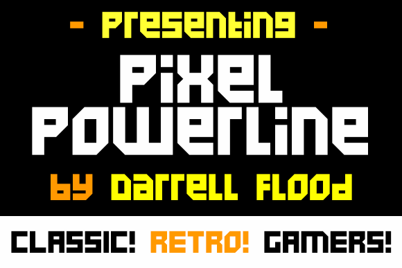 Pixel Powerline font by Darrell Flood