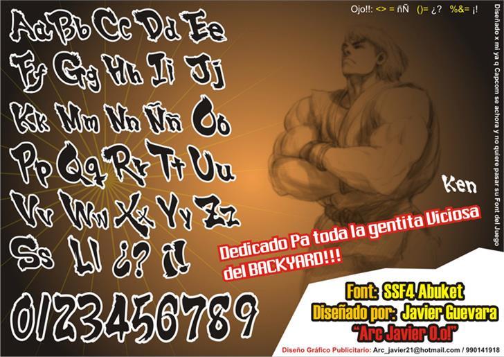 Image for SSF4 ABUKET font
