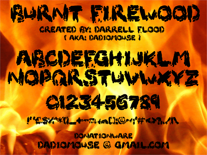 Image for Burnt Firewood font