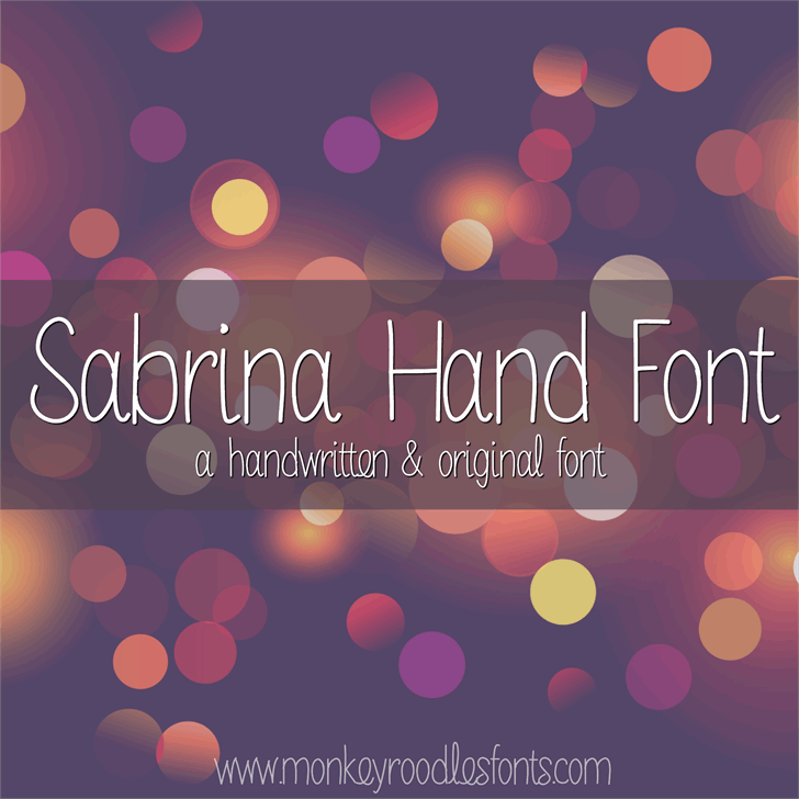 MRF Sabrina Hand Font by Sabrina Schleiger