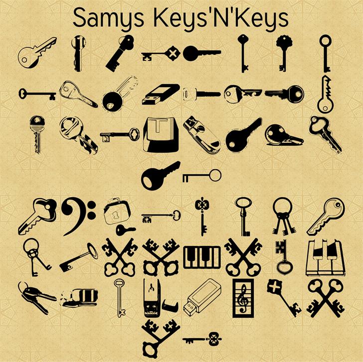 Samys Keys'N'Keys font by Ret Samys