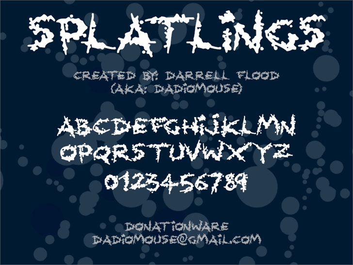 Image for Splatlings font