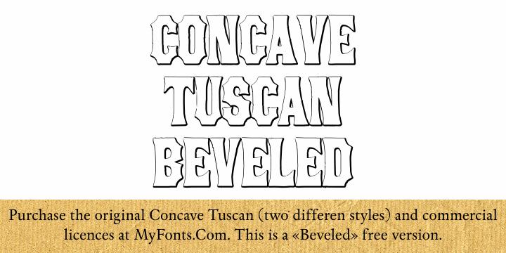 Image for ConcaveTuscan Beveled font