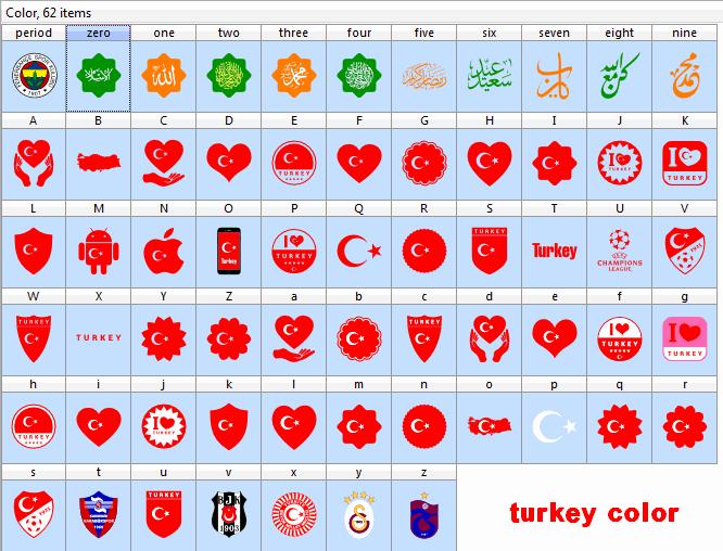 font turkey color font by elharrak