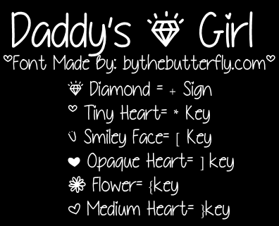 Image for DaddysGirl font