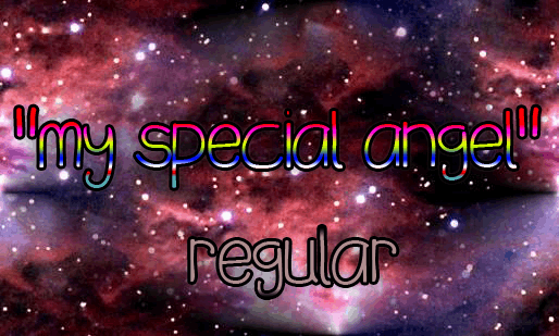 Image for my special angel font