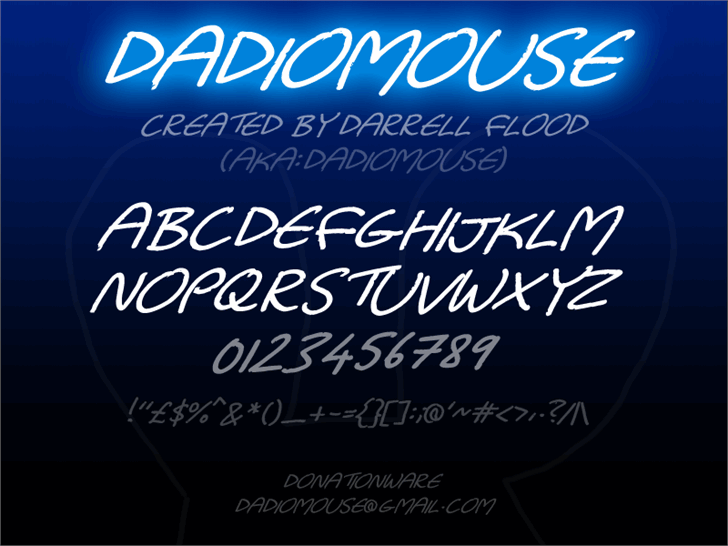 Image for Dadiomouse font