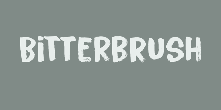 Bitterbrush DEMO font by David Kerkhoff